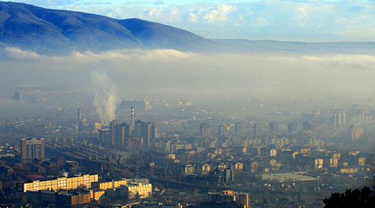 Photo of Skopje reaches status of most polluted city