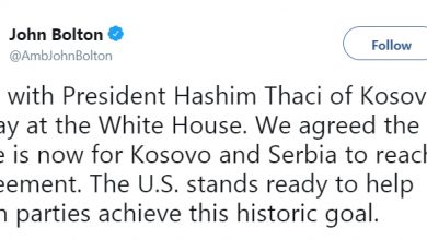 Photo of White House tells Kosovo leader 'time is now' to settle disputes with Serbia