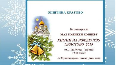 Photo of Christmas concert in Kratovo