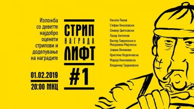 Photo of Macedonia's first annual comics awards, Lift, to be presented at MKC