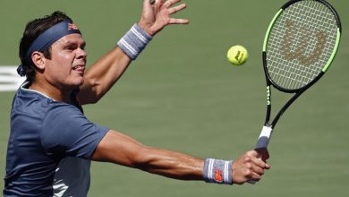 Photo of Raonic dominates Murray to storm into quarter-finals