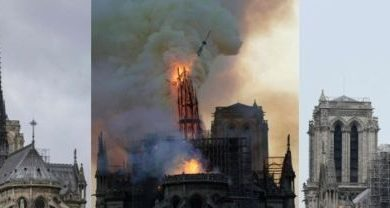 Photo of Notre-Dame fire: Millions pledged to rebuild cathedral