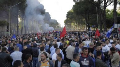 Photo of Several injured in clashes at Albania anti-government rally