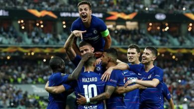 Photo of Hazard scores twice as Chelsea down Arsenal 4-1 to win Europa League