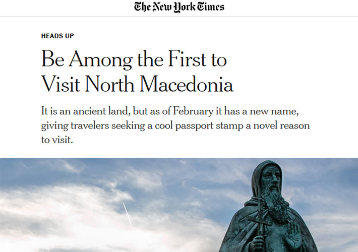 Be among the first to visit North Macedonia – MIA