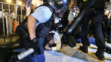 Photo of Hong Kong police fire tear gas as protesters defy rally ban