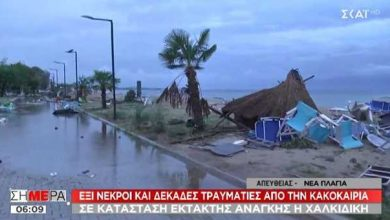 Photo of Six foreign nationals killed as severe weather hits Greece