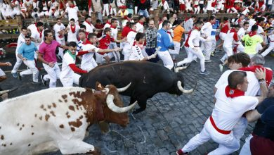Photo of Tourists from Britain, US seriously injured in Pamplona bull run