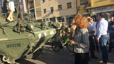 "Photo of Gostivar hosts presentation of military equipment used in ""Decisive Strike"""