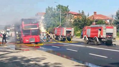 Photo of No injuries in double-decker bus fire (video)