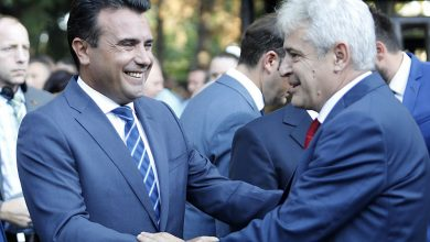 """Photo of Ahmeti's """"Albanian PM"""" comment stirs reactions from political parties"""