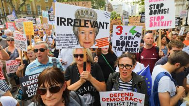Photo of Nationwide protests begin in Britain over suspension of parliament