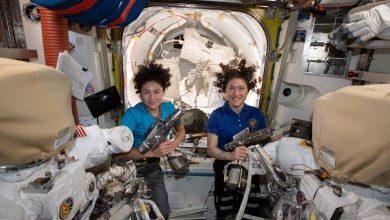 Photo of Historic all-female spacewalk conducted to repair International Space Station