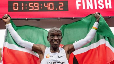 Photo of Kipchoge becomes first athlete to break marathon 2-hour barrier