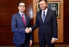 Photo of Pendarovski meets with Pahor, confirming strong Slovene support