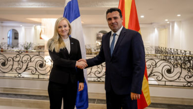 Photo of PM Zaev meets Finland's Ohisalo