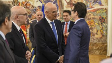 Photo of President Pendarovski meets Greek FM Dendias