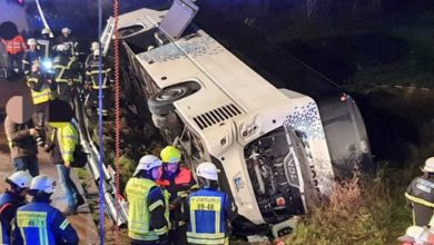 Photo of Bus crash in Germany leaves more than 30 injured