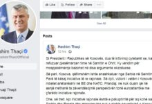 Photo of Kosovo's Thaci explains why he snubbed Ohrid meeting