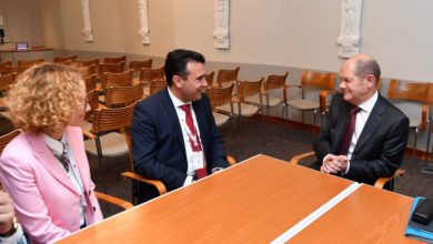 Photo of Zaev, Shekerinska meet Germany's Scholz in Stockholm