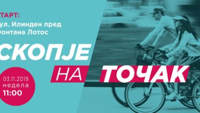 Photo of Cycling event takes place in Skopje