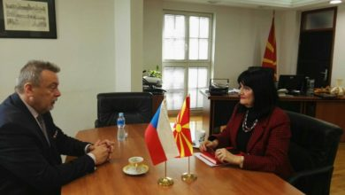Photo of Minister Apostolska. Czech Ambassador Toman discuss economic relations
