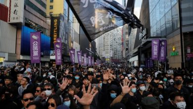 Photo of Thousands rally for Human Rights Day in Hong Kong