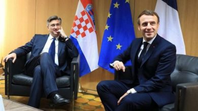 Photo of Opening of accession talks with North Macedonia among topics discussed by Plenkovic and Macron