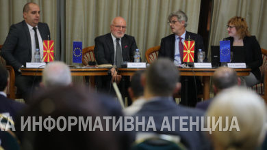Photo of Panel discussion on the rights of minority communities in North Macedonia