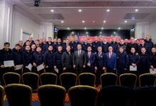 Photo of Gov't officials meet with rescue teams dispatched to Albania