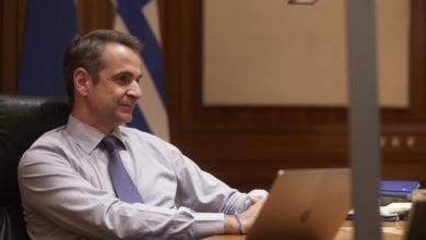 Photo of Mitsotakis: I'm working on improving problematic aspects of Prespa Agreement