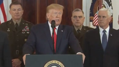 Photo of Trump says Iran 'standing down' as he backs off military conflict