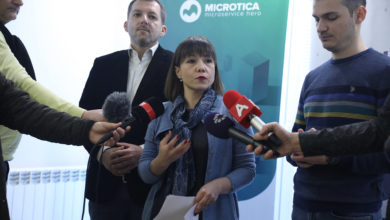 Photo of Carovska, Despotovski visit DoXteam