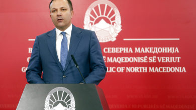 Photo of PM Oliver Spasovski holds news conference