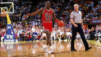 Photo of Michael Jordan's sneakers auctioned off for record 560,000 dollars