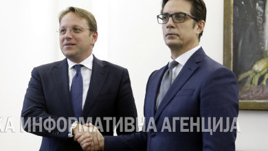 Photo of President Stevo Pendarovski meets with European Commissioner for Neighborhood and Enlargement Olivér Várhelyi