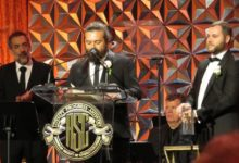 "Photo of ""Honeyland's"" Samir Ljuma and Fejmi Daut receive ASC's first documentary award"