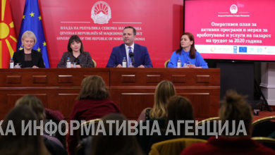 Photo of Spasovski and Carovska hold news conference