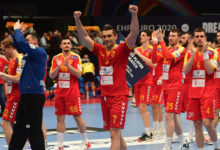 Photo of Lazarov's last-second shot chosen as best at Euro handball championship