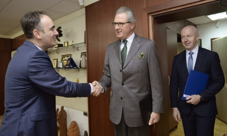 Photo of Minister Chulev and OSCE's Koja discuss cooperation ahead of April election