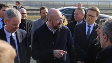 Photo of EU's Michel oversees construction of wastewater collectors at Vardar river