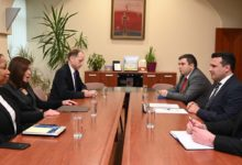 Photo of SDSM leader Zaev meets US Ambassador Byrnes