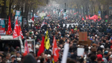 Photo of Protests around France as unions dig on against pension reform