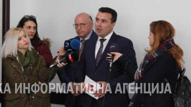 Photo of SDSM leader Zoran Zaev visits the Economic Chamber