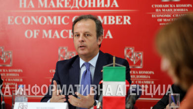 Photo of A news conference at the Economic Chamber of Macedonia