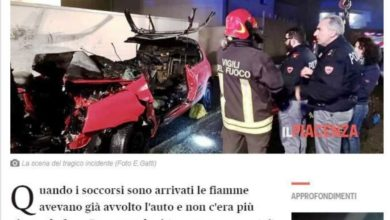Photo of Two Macedonian nationals killed in Italy car crash