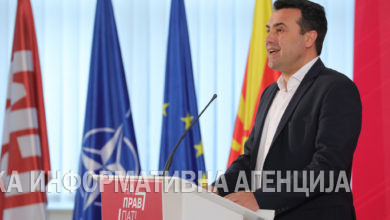 Photo of Zoran Zaev – press briefing