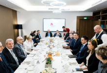 Photo of FM Dimitrov attends working breakfast with EU resident ambassadors