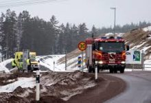 Photo of Miners evacuated from Swedish mine after underground fire