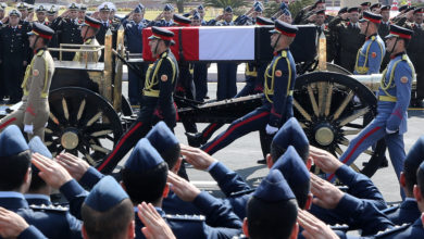 Photo of Egypt holds military funeral for deposed president Mubarak